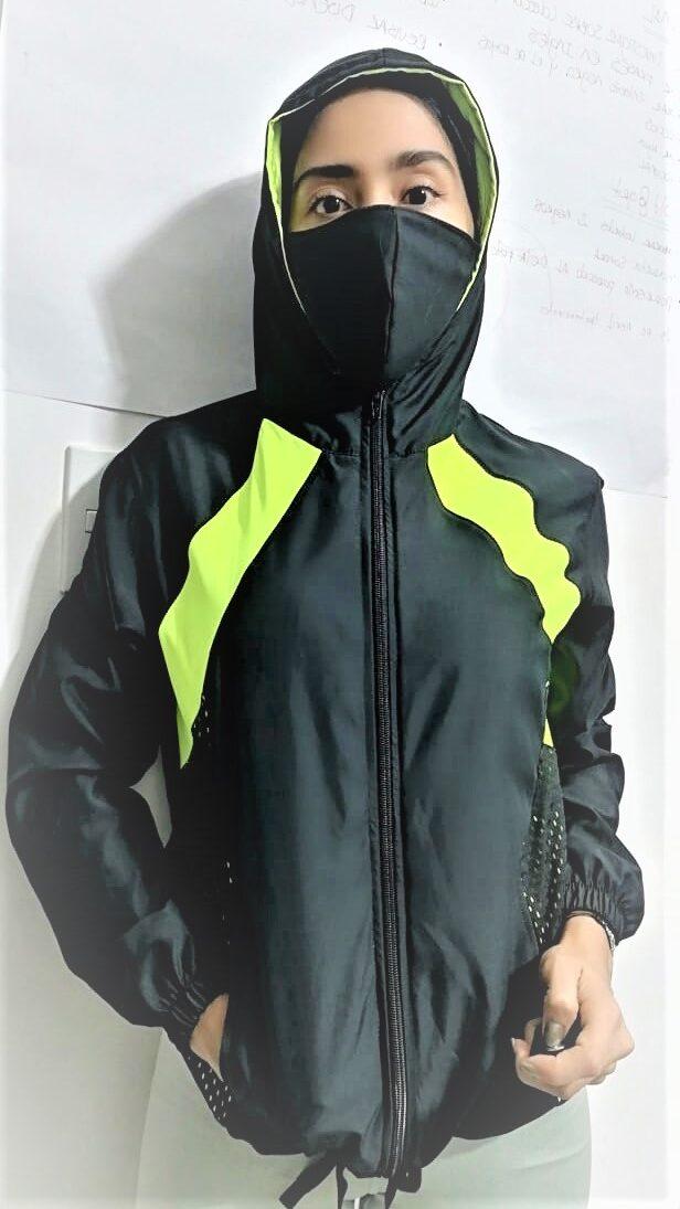 chaqueta deportiva personalizada con tapabocas