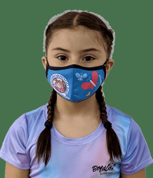 tapabocas con diseños únicos para niñas